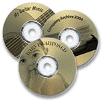 LightScribe disks with laser burned labels