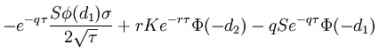 Option theta formula put option